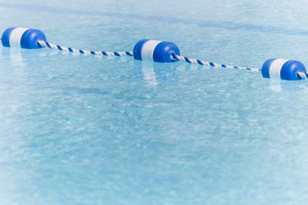 floaters: Empty Pool With Lane Markers