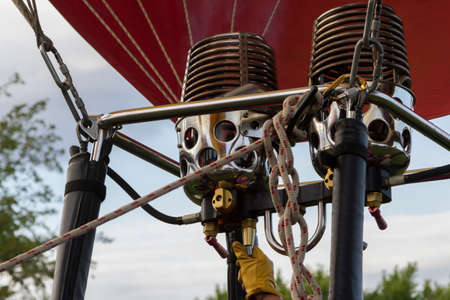 Burners On A Hot Air Balloon Stock Photo