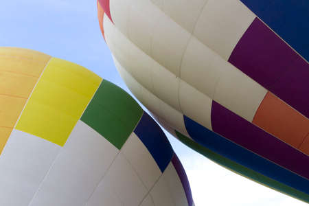 hot air balloons: Two Hot Air Balloons About To Touch