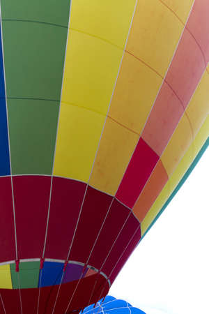 A Colorful  Hot Air Balloon Close-Up Detail