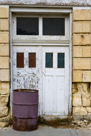 Architectural Detail Of Old Abandoned Building Stock Photo