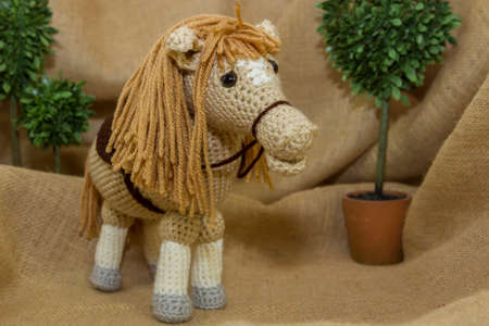 stuffed toy: Handcrafted Toy Horse