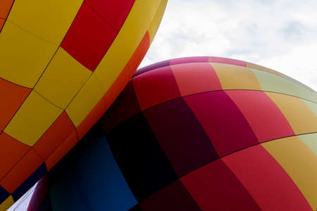 Hot-Air Balloons Touching Stock Photo