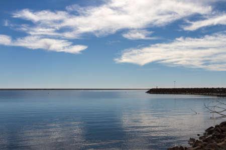 Beautiful Still Lake In Winter Stock Photo