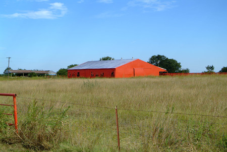 Old Abandoned Red Barn