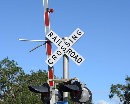 Railroad Crossing - Close up view Archivio Fotografico