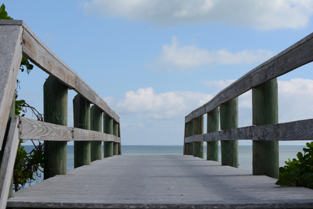 Old Wooden Bridge Entrance to the Ocean Reklamní fotografie