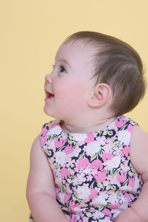 contentment: girl smiling looking away