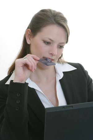 ordering: woman ordering online - shopping