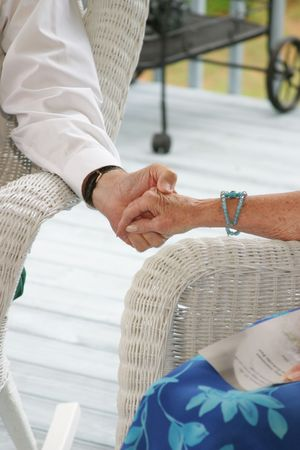 Personas de la tercera edad la mano  Foto de archivo - 260225