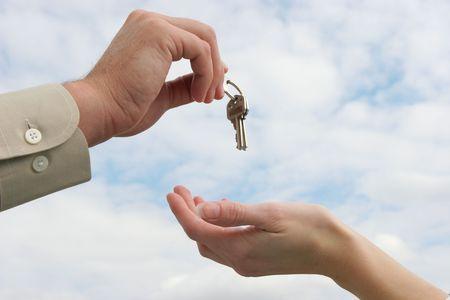 Handing over the keys Stock Photo - 270699