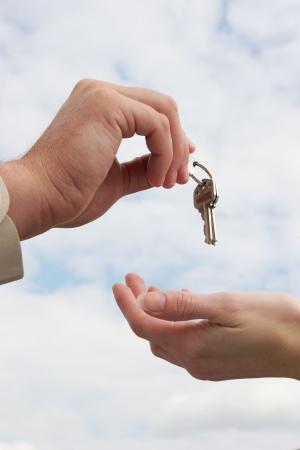 Handing over the keys Stock Photo - 437806