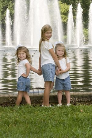Twin Sisters and older sister photo