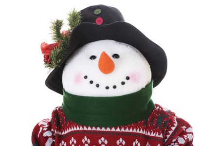 Snowman with sweater on white background Stock Photo - 576163