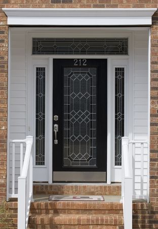 transom: Nice front door of house from exterior view
