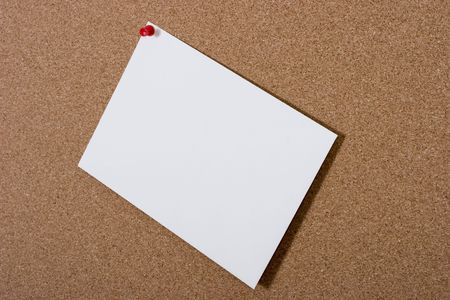 scribe: Bulletin board with large blank cardA cork bulletin board with large blank card for your messagebulletin, board, cork, note, paper, message, post, office, blank, empty, messages, reminder, memo, remember, notes, white, scribe, write, written, pin, stick,