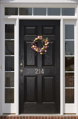sidelight: Nice front door of house from exterior view