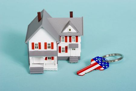 house with a red, white and blue key Stock Photo - 846600