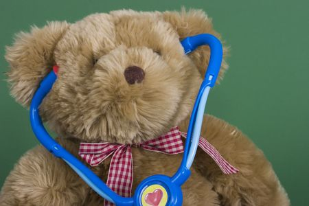 A teddy bear with a stethoscope Stock Photo - 848530