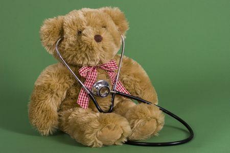 A teddy bear with a stethoscope Stock Photo - 3622687