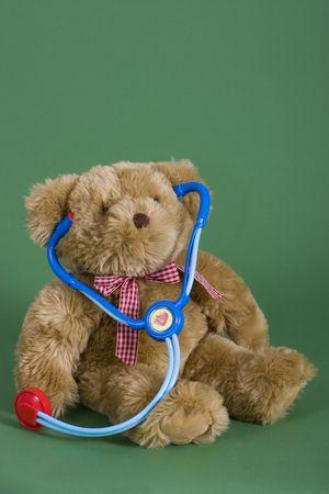 A teddy bear with a stethoscope Stock Photo - 3622686