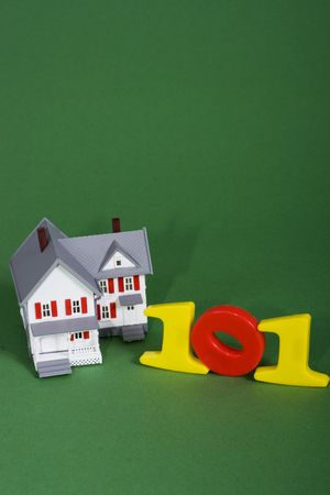 downpayment: A house with the numbers 101