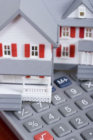 Mortgage and down payment - house and calculator Stock Photo - 1156943