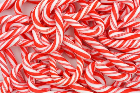 canes: A Christmas background of mini candy canes