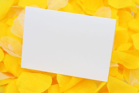 あなた自身のメッセージを空のカード黄色花の花弁