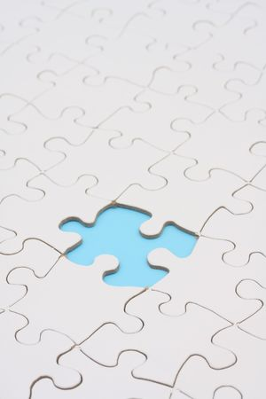 conclude: Puzzle with piece missing - puzzle solved except on part