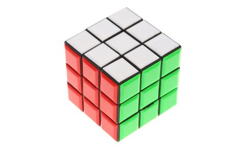 A solved puzzle isolated over white
