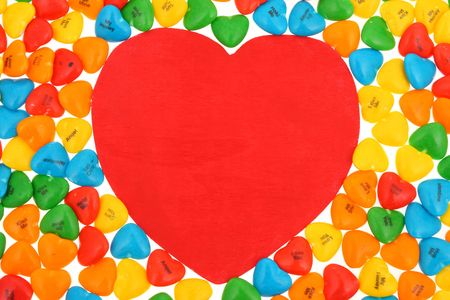 Candy Hearts, big heart shape in middle Stock Photo - 1888603