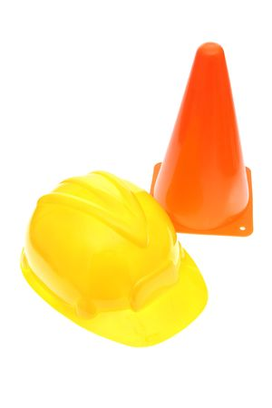 Hardhat with safety cone Stock Photo - 1907755