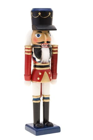 Nutcracker on white background photo