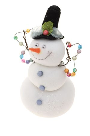 Snowman isolated on a white background photo