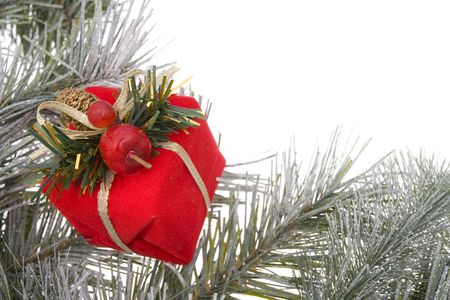Wreath branch with gift photo