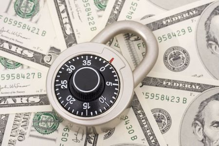 combination: Combination lock on American currency