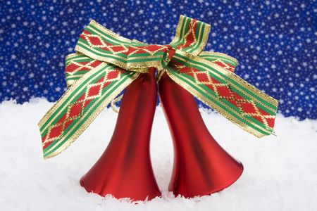 Christmas bells with a night sky background photo