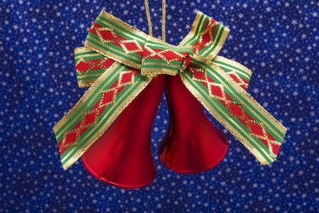 christmas bells: Christmas bells on night sky background