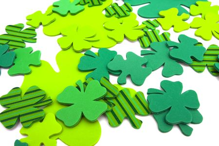 Four leaf clovers isolated  on white background Stock Photo - 2703327