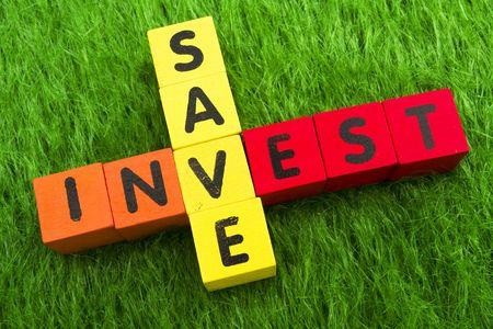 Alphabet blocks spelling save and invest Stock Photo - 2823785