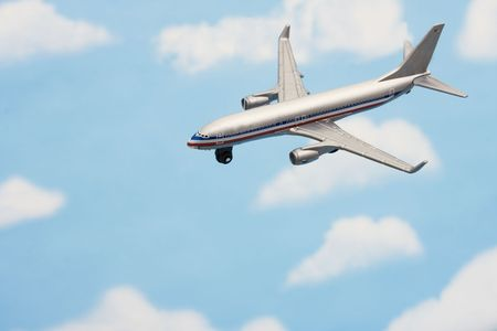 Airplane flying in the sky � vacation travel photo