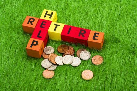prendre sa retraite: Alphabet blocs orthographe prennent leur retraite et aider