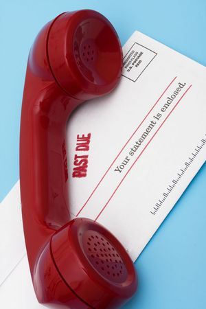 Telephone with overdue bill � call for help with your finances photo
