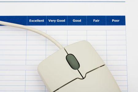 コンピューターのマウス、優れた顧客サービスと調査のクローズ アップ 写真素材 - 3499664