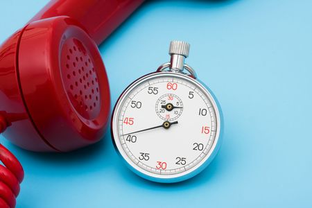 Stop watch with telephone – very quick response time