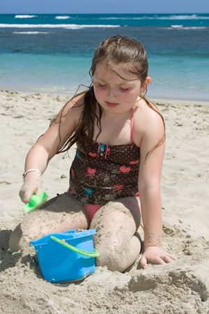 Youth girl on beach,  fun vacations photo
