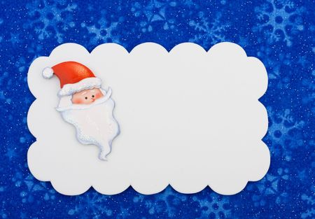 A blank gift tag on a snowflake background, Christmas gift Stock Photo - 5669600