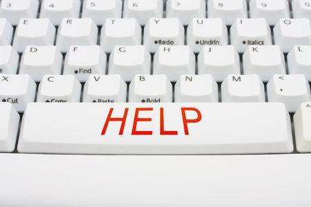 A keyboard saying help, computer help photo