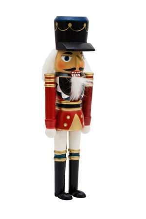 crackers: A nutcracker isolated on a white background, Nutcracker